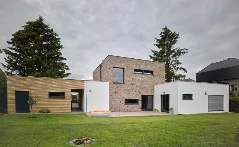 Rodinný dům Čelákovice dřevostavba ze sádrokartonových desek Rigistabil