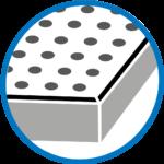 Hrana preforovaných desek Rigitone