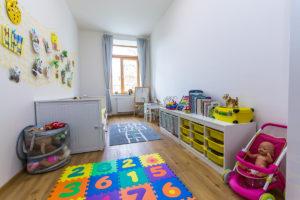 Dětský pokoj v bytovém domě ve Slaném se sádrokartonovými deskami Habito