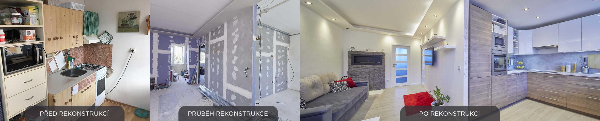 rekonstrukce kuchyně a obývacího pokoje - panelakovy byt - Lastovickovi