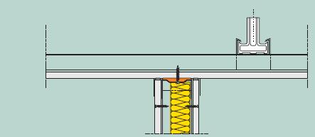 Napojení sádrokartonové příčky na sádrokartonový podhled