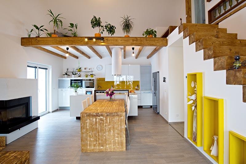 Rodinný dům Krašovice dřevostavba sádrokarton Rigistabil