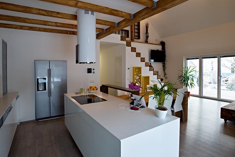 Rodinný dům Krašovice dřevostavba sádrokartonové desky Rigistabil