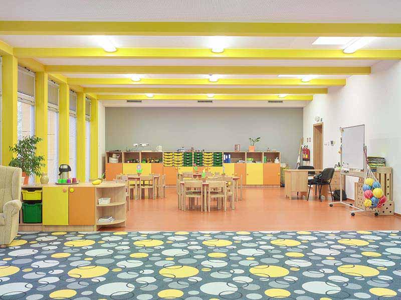 Mateřská škola Šumperk akustické sádrokartonové podhledy