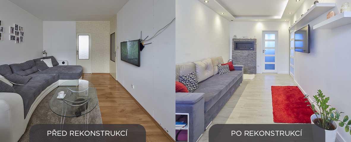 rekonstrukce obývacího pokoje - panelakovy byt - Lastovickovi