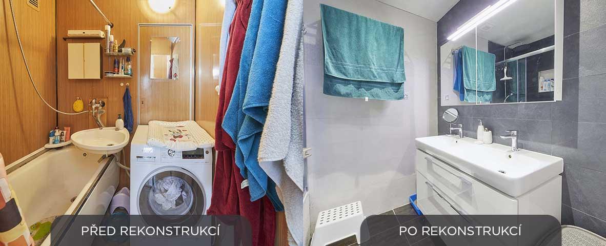 rekonstrukce koupelny - panelakovy byt - Lastovickovi