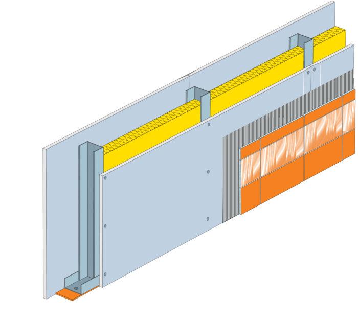 Konstrukce s deskou Glasroc H