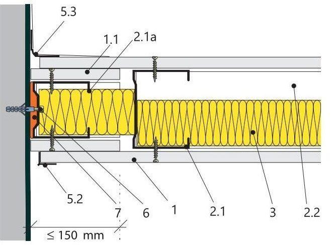 Volné napojení se stínovou spárou nebo dilatačním profilem