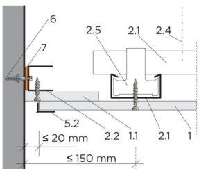 Volné napojení se stínovou spárou a profilem R-UD