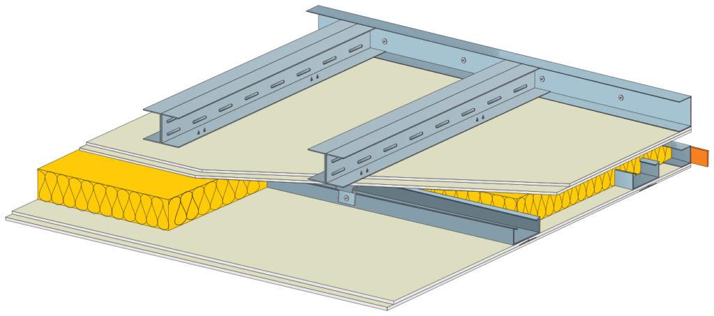 Základem je konstrukční sádrokartonová deska RigiStabil