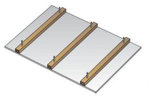 Montované opláštění stropu