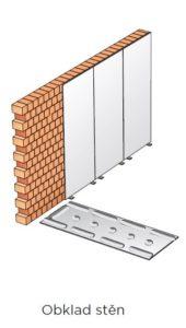 Obklad stěn sádrokartonem, tzv. suchá omítka