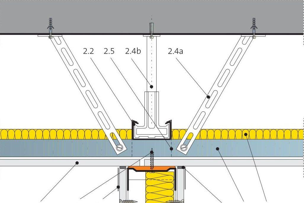 Napojení podhledu a příčky 5.60.32