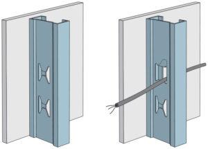 Do konstrukcí Rigips lze zabudovat elektroinstalace