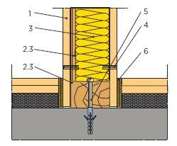 Napojení podlahy Rigidur k příčce