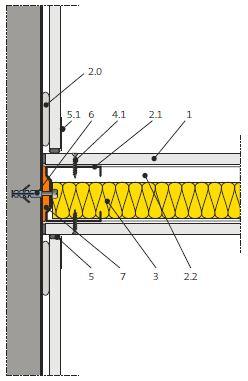 """Odbočení příčky od masivní stěny s nalepenou """"suchou omítkou"""" (5.22.20)"""