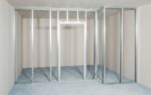 Rastr sádrokartonové příčky včetně dveří